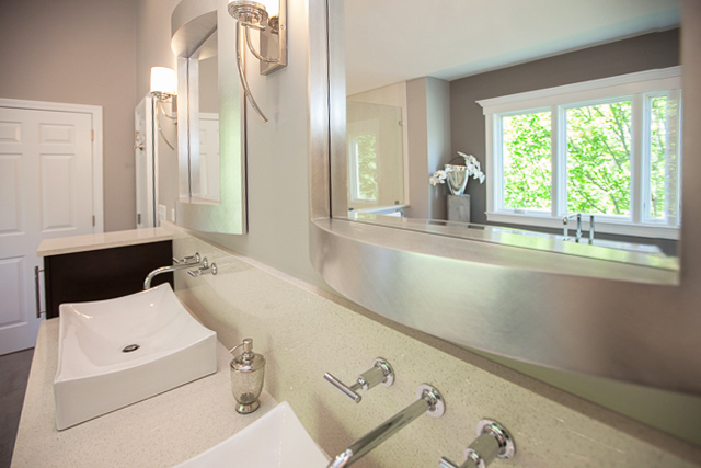 Master Bath With Heated Floors Marshfield Ma Modern White Kitchen Design