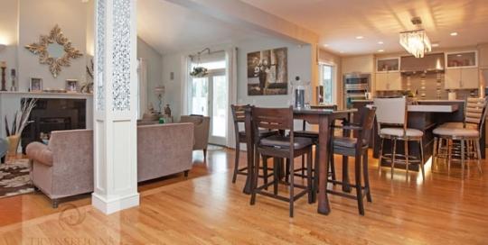 Open plan kitchen design.