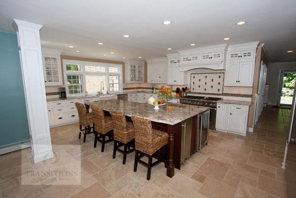 Kitchen design with tile floor