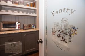 Walk in pantry with custom door