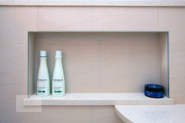 Shower niche storage