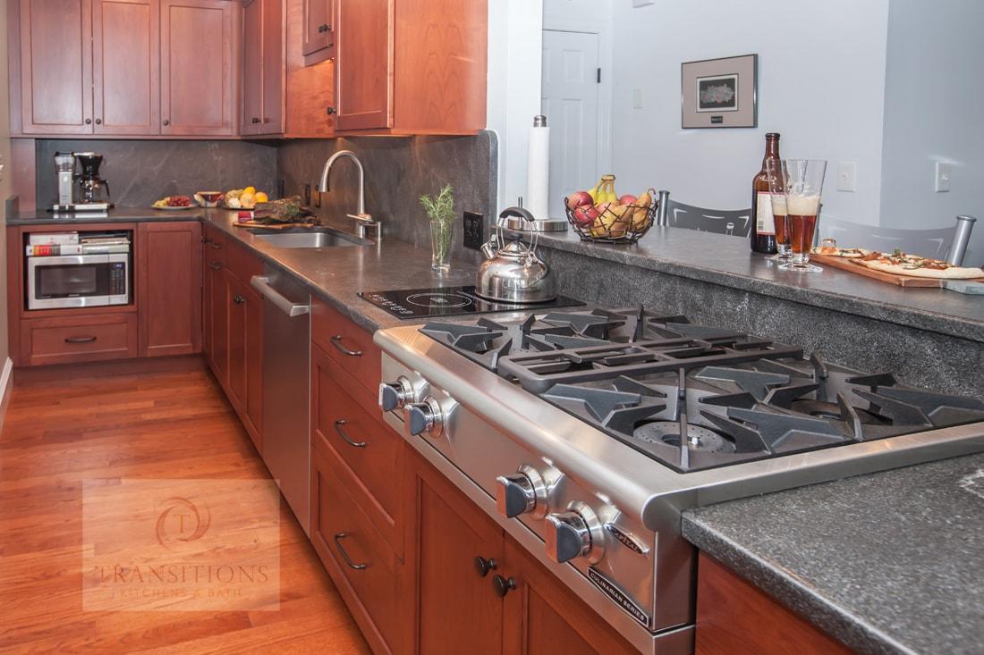 kitchen design with professional style range