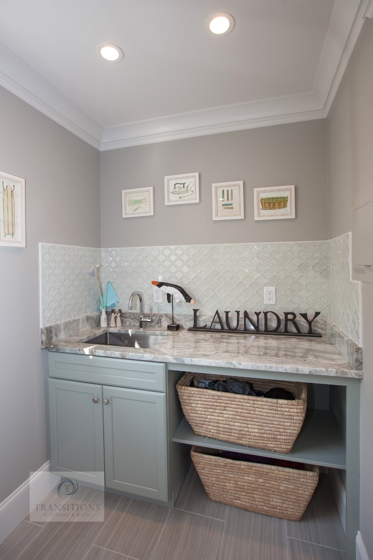 laundry room design with sorting baskets
