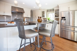 Kitchen island tabletop with chairs