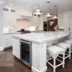 Kitchen design with undercounter refrigerator