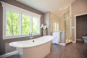 Bathroom design with toilet room