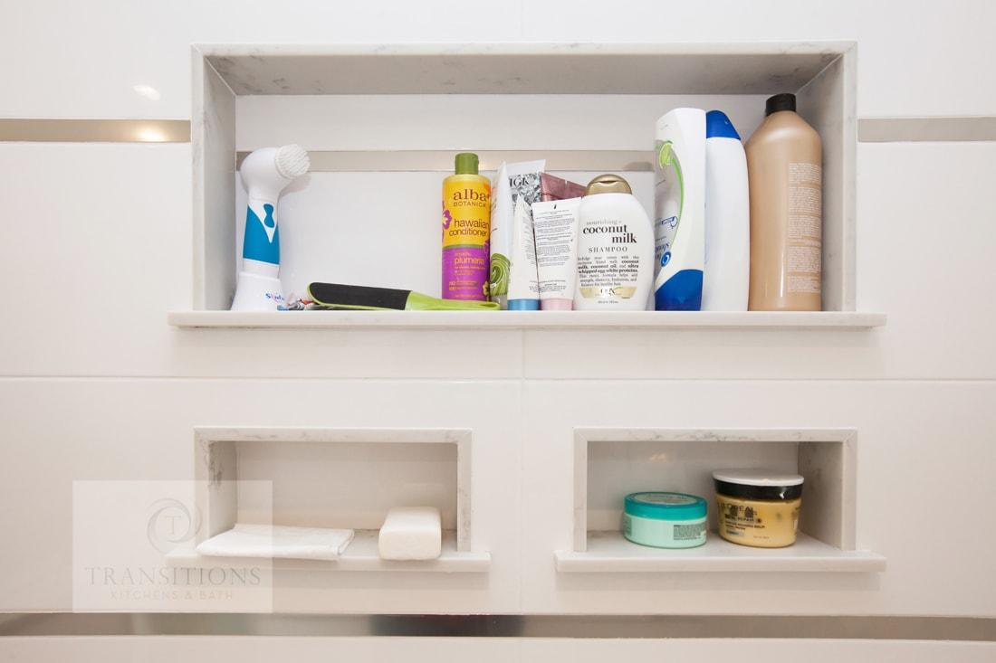 Transitions Kitchens And Baths Recessed Bathroom Design Storage Ideas
