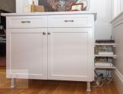Kitchen design with electronics storage