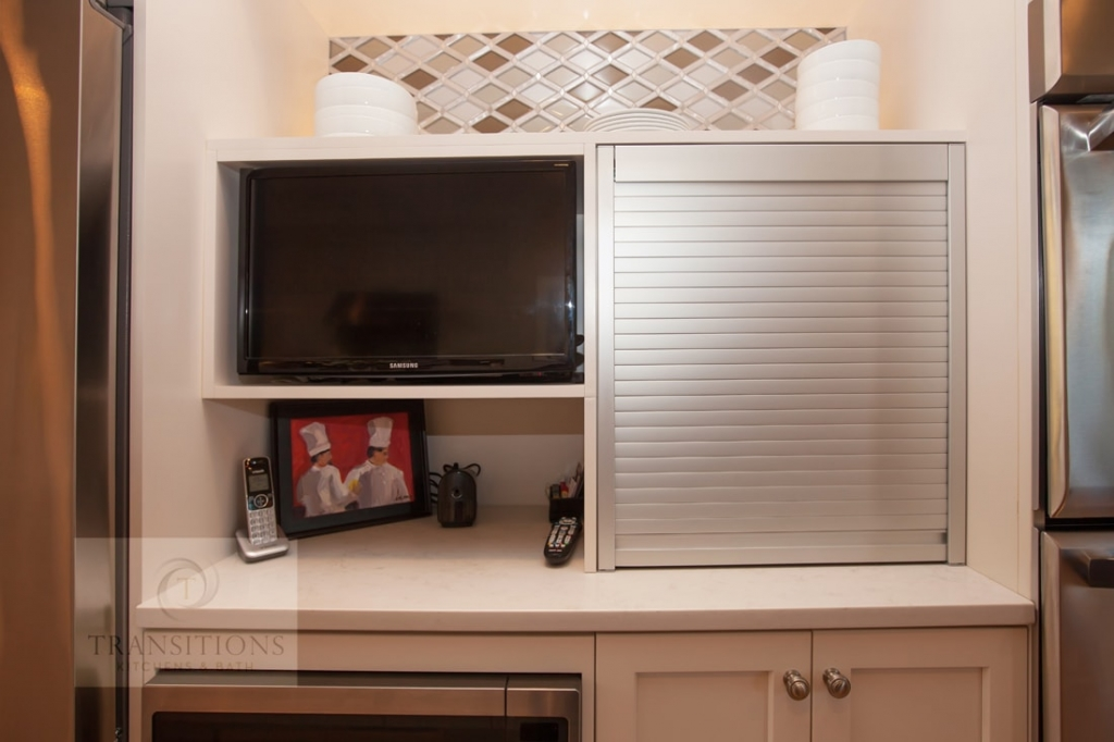 Kitchen design with television