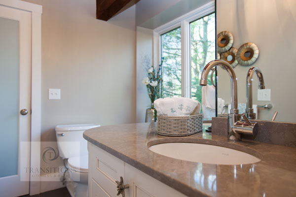 Vanity with undermount sinks