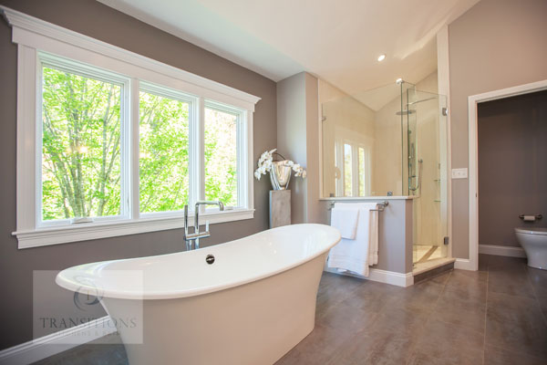 master bath design with freestanding tub