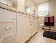 white hall bath design