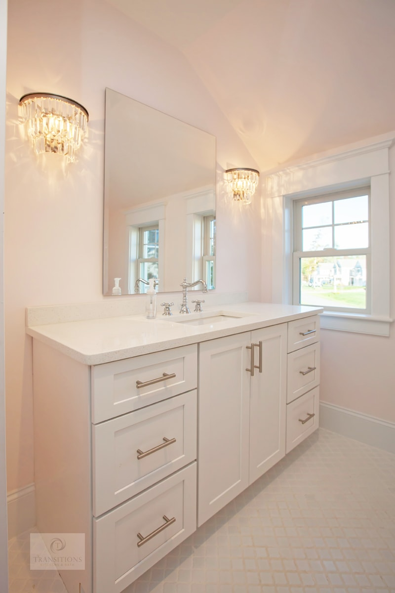 white master bath design