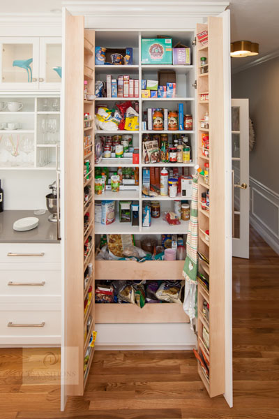 integrated pantry storage