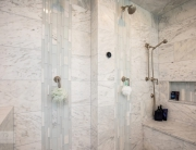 steam shower with two showerheads