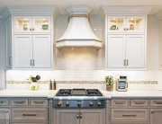 kitchen design with custom hood