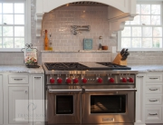 kitchen with professional style range and oven