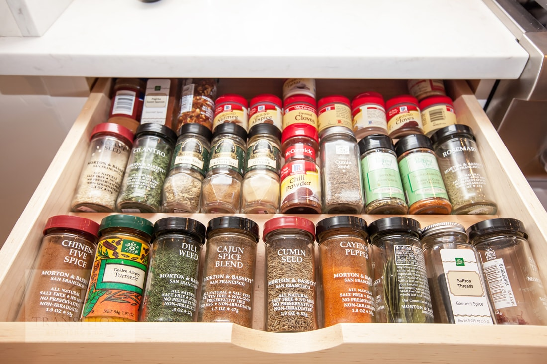 spice storage drawer