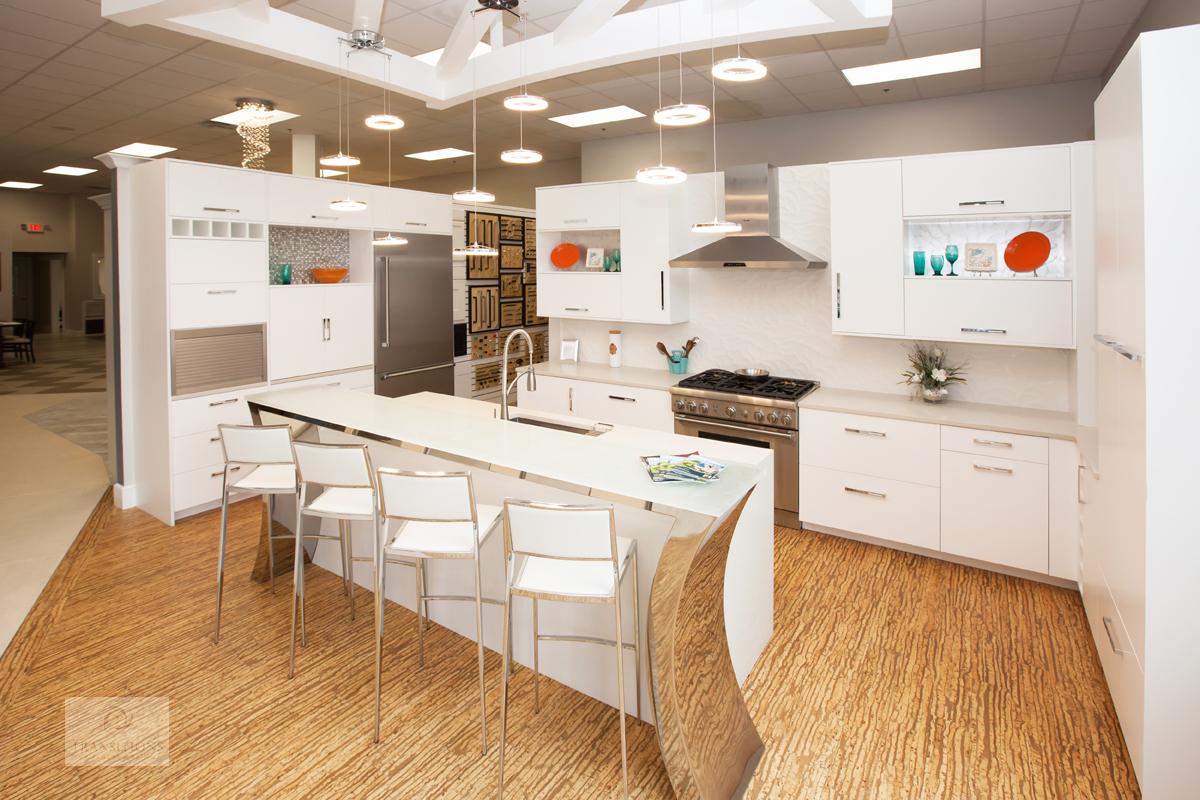 kitchen dispay with open storage