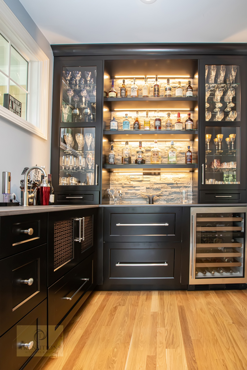 Transitions Kitchens And Baths Beverage Bar Ideas