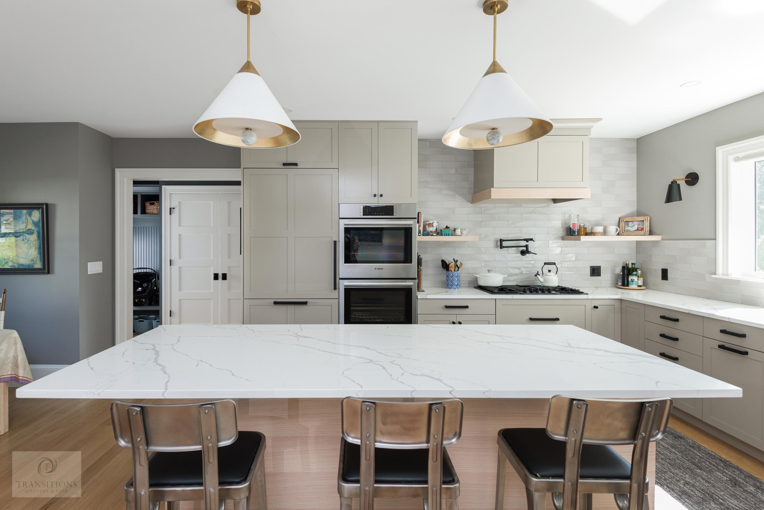 kitchen design with open storage