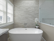 master bath with freestanding tub