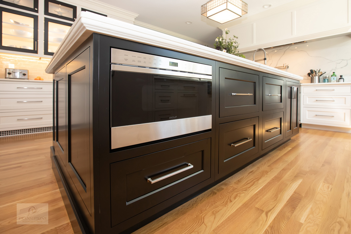 kitchen island with deep drawers